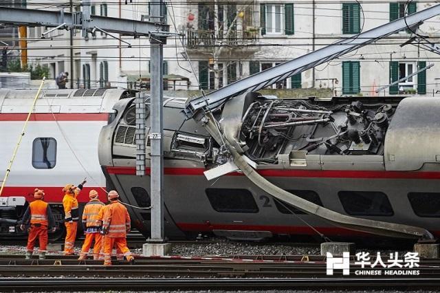 意大利至瑞士的火车脱轨 乘客受伤