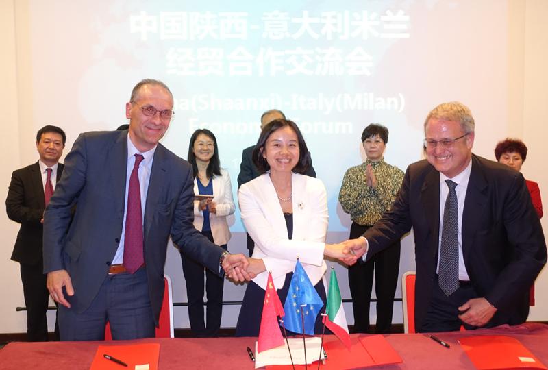 米兰华商助推中意经贸交流——中国陕西-意大利米兰经贸合作交流