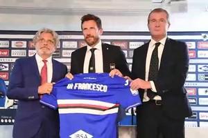 Sampdoria, Di Francesco presentato a Bogliasco (ANSA)
