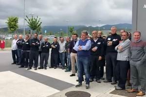 Di Maio incontra i manager e i lavoratori di Piaggio Aerospace (ANSA)